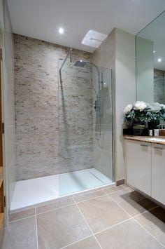 shower floor pan in Bathroom Transitional with beige bathroom tile bathroom feature wall