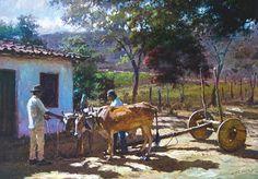 Carro de boi, s/d João Bosco Campos (Brasil, contemporâneo) óleo sobre tela, 50 x 70 cm Blog do José Rosário -