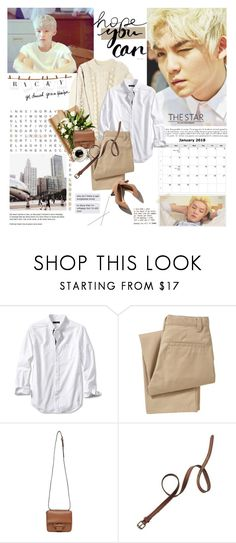 """""""Ricky (Teen Top)"""" by maybones ❤ liked on Polyvore featuring Banana Republic, Old Navy, Reed Krakoff, Madewell, Spy Optic, comments_header and 99kpopcollection"""
