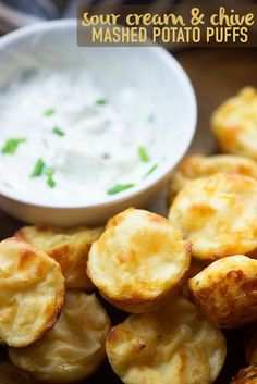 I teamed up with Bob Evans to make you these sour cream and chive mashed potato puffs, featuring their creamy, dreamy refrigerated mashed potatoes! These are such a fun little appetizer!