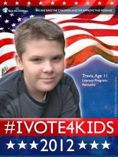 #IVOTE4KIDS We think Vice Presidential candidates VP Joe Biden and Rep Paul Ryan need to address how they will help kids like Travis achieve their dreams in the debate tonight.    Please 'Re-pin' and 'Like' this pin to spread the message.     We are Save the Children and we approve this message.