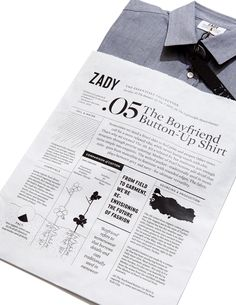 .05 The Boyfriend Button Down Shirt packaging #infographics