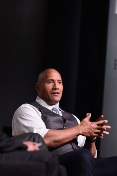 """Dwayne Johnson Photos Photos - Actor Dwayne """"The Rock"""" Johnson speaks onstage during 'The Next Intersection For Hollywood with William Morris Endeavor's Ari Emanuel, Patrick Whitesell and Dwayne """"The Rock"""" Johnson' at the Fast Company Innovation Festival on November 9, 2015 in New York City. - The Fast Company Innovation Festival - The Next Intersection for Hollywood with The Rock"""
