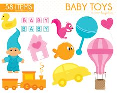Baby Toys Clipart, Baby Clipart, Baby Shower Clipart, Nursery Baby Clipart, Old toys, Planner Stickers, Commercial Use, CS0010 by Sweetdesignhive on Etsy Baby Shower Clipart, Clipart Baby, Baby Clip Art, Old Toys, Planner Stickers, Baby Toys, Commercial, Nursery, Random