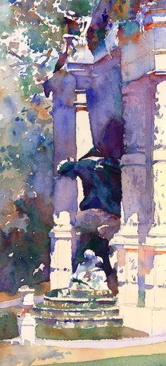 The Fountains of Paris by watercolorist Michael Reardon