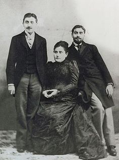 Marcel Proust and his mother and brother Robert, ca. 1895.  Bibliotheque Nationale de France (BnF), Paris, France  © BnF, Dist. RMN-Grand Palais / Art Resource, NY