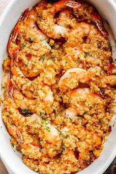 Shrimp Dejonghe Recipe, Baked Shrimp Recipes, Best Seafood Recipes, Fish Recipes, Vegetarian Recipes, Cooking Recipes, Shrimp Bake, Delicious Recipes, Seafood