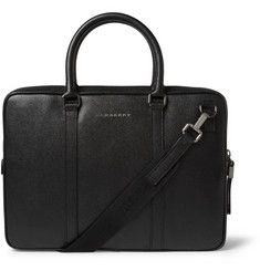 Burberry Full-Grain Leather Briefcase