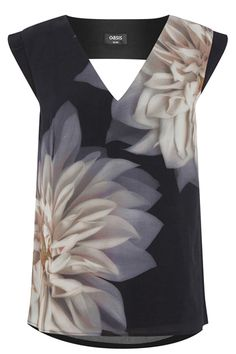 Photographic Floral Placement Top