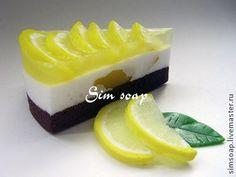 Кусочек торта с лимоном - мыло ручной работы - торт,кусок торта,мыло,ручная работа