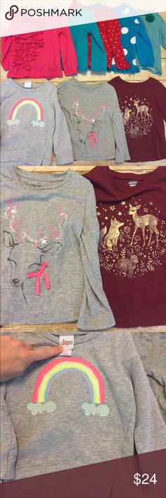 8 PC Bundle! Toddler girl long sleeve tops 2T Gently used very good condition no holes or stains. All 2T. Brands include items from Target, Baby Gap, Old Navy, etc.. all 8 tops included. Bundle and save! GAP Shirts & Tops Tees - Long Sleeve