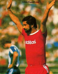 German goalscoring machine Gerd Muller. Still holds the record for goals scored in a season, the German legend netted 67 times for Bayern Munich in the 1972-73 campaign.