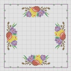 sm Santa Cross Stitch, Cross Stitch Heart, Cross Stitch Flowers, Funny Cross Stitch Patterns, Cross Stitch Designs, Cross Stitching, Cross Stitch Embroidery, Hand Embroidery Flowers, Easter Cross