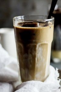 strong coffee + sweetened condensed milk + coffee ice cubes = perfect iced coffee.....this could be blended for a awesome slushy