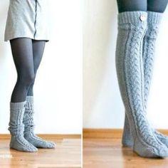 Over the Knee Cable Knit Socks – Knitting Socks Cable Knit Socks, Crochet Socks, Knitting Socks, Knit Mittens, Crochet Clothes, Knee Socks Outfits, Tall Socks, Comfy Socks, Boot Socks
