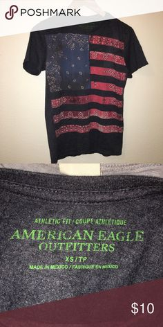 994fe6bd AMERICAN EAGLE Graphic Tshirt American Eagle 'athletic fit' tee. American  flag graphic.