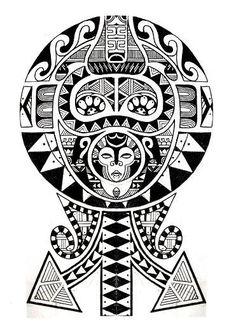 Modèle tatouage polynesien