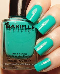 The TraceFace Philes: Barielle Brilliant Colors Collection! Head of the Class Green