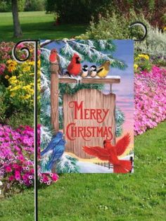 "Christmas Sign Post - Garden Size 12 Inch X 18 Inch Decorative Flag by Good Directions. Save 11 Off!. $11.99. 100% Polyester - Fade & Mold Resistant. Permanently Dyed with a Vivid Color Process. Flag Measures Approximately 12"" x 18"". Bright Beautiful Artwork. Garden Flag Outdoor Décor. ############################################################################################################################################################################################################..."