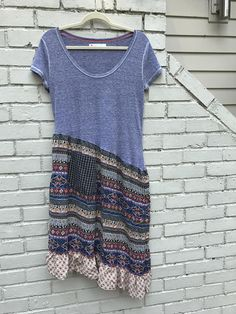 Eco gypsy t shirt tunic dress short sleeved heathered purple