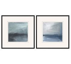 Blue Moors Paper Print Inspired to paint a story in navy hues, the artist of Blue Moors created this painterly abstract artwork that evokes the cool tones of seascapes. Free Interior Design, Home Interior, Framed Canvas Prints, Canvas Frame, Art Prints, Framed Wall, Pottery Barn, Modern Bedroom Design, Mirror Art