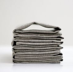 Linen napkin set of 12  grey  12x12 inch size by pillowlink, $45.00