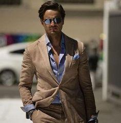 Tailor 4 Less Unlined Blue Linen Suit on Men's Style Pro | Men's ...