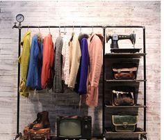 Aliexpress.com: Comprar Perchas de ropa tienda de ropa bastidores agua isla mesa vitrinas de zapatos escaparate estante de tv rack fiable proveedores en Store No.1876508