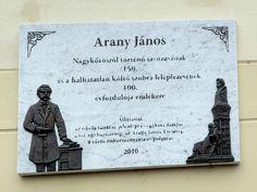 Arany János emléktábla (Nagykőrös) http://www.turabazis.hu/latnivalok_ismerteto_5281 #latnivalo #nagykoros #turabazis #hungary #magyarorszag #travel #tura #turista #kirandulas
