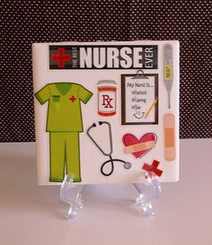 Ceramic Table Coaster NURSE GIFT by crazydaisy12 on Etsy, $7.00