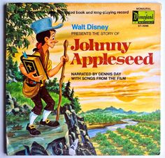 The Story of Johnny Appleseed LP Vinyl Record Album, Disneyland - ST-3996, Pop, Childrens,  Soundtrack, Story, Folk, 1971, Original Pressing