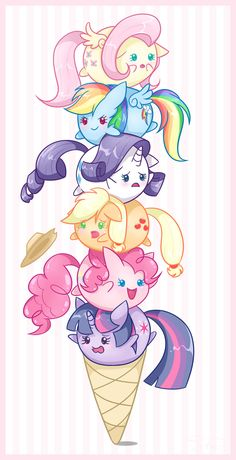 so cute!!! Ice Cream Ponies #Hasbro #MLP #FiM My little pony friendship is magic