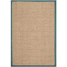 Safavieh NF114M Natural Fiber Natural/Light Blue Area Rug