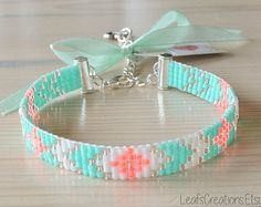 Loom beaded bracelet Ibiza bracelet beaded by LeafsCreations