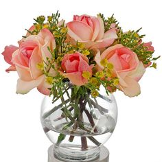 Real Touch Orange Rose Arrangement with Bud Spray Roses by flovery