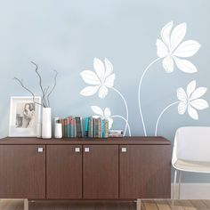 Cyclamen+Flower+Set+Decal++Vinyl+Wall+Decals+by+SimpleShapes,+$48.00