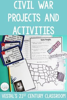 Here are some of the best Civil War activities and projects for upper elementary and middle school! #vestals21stcenturyclassroom #civilwar #teachingcivilwar #civilwarlessons #civilwarunit #civilwaractivities #civilwarprojects #ushistoryactivities #ushistorylessons