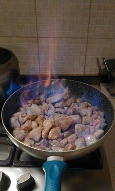 Filet de porc flambé au Grand Marnier........