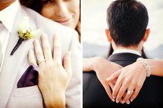 Ideas para las fotos de los anillos de boda