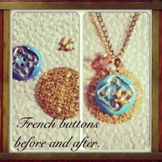 dwallacedesigns  • Clients vintage french buttons transformed into an elegant necklace.