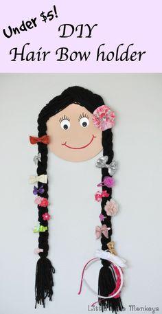 Doll Face bow holder - Little Free Monkeys