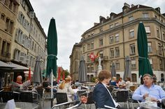 I'm an Outlaw, Not a Hero: A Day Geneva. Drinks on the terrace at La Clemence, Geneva, Switzerland