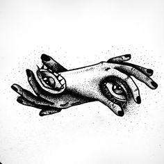 STANLEY DUKE tattoo design tattoos illustration dotwork linework blackwork stippling black eyes