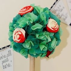 How to make rose trees... Mad Hatters Tea Party Ideas, Alice in Wonderland Party Theme by hollie