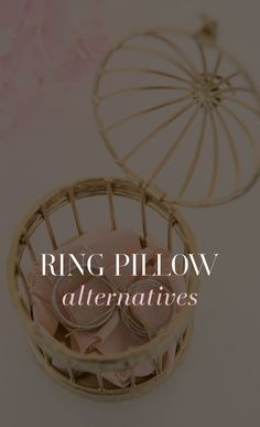 Ring Pillow Alternatives Rings Cool Favors Alternative Wedding Decorations