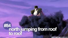 little RotG things: North jumping from roof to roof