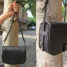 FRESH on the site today; this **BLACK BEAUTY** Take her home already!  Featured | Little Stefanie in Slate  Much love Team #Chiaroscuro  #Slate #Leather #Artisanal #WorkshopMade #PureLeather #Vintage #LeatherWork #Handcrafted #MadeWithLove #LittleStefanie #BeautifulThings #Genuine #Unique #Sling #SlingBags #Bags #Handbags #LeatherBags
