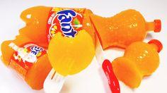 DIY How To Make Orange Soda Jelly Pudding 환타 오렌지맛 젤리 푸딩 만들기 놀이 장난감