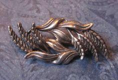 Silver Wheat Brooch