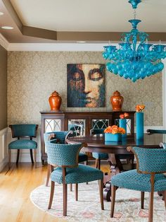 Cozy Color Schemes for Every Room Teal blue Charcoal and Teal
